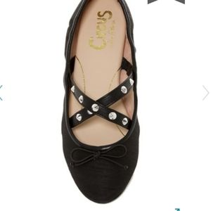 Circus by Sam Edelman Cayenne Black Studded Flats